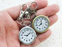 Wholesale Vintage Nurse - Wholesale-Hot Popular Women's Cute Nurse Fob Brooch Pocket Watch Bronze Quartz vintage pocket watch Movement Keychain Keyring Watch