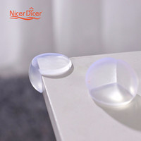 Wholesale Baby Edge Protection - Wholesale- 4 PCS Silicone Table Corner Protector Child Baby Safety Protection Children Anticollision Edge Corner Guards Furniture