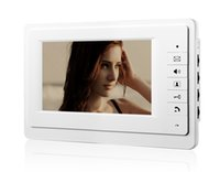 Wholesale Video Doorphone Intercom System - white Luxury Home Color Video Take Picture 7inch lcd monitor video doorphone intercom home security access system indoor set