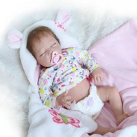 Wholesale Realistic Silicone Baby Doll - 22 Lifelike Baby Doll Girl Full Body Soft Silicone Lovely Infant Reborn Realistic Newborn Alive Baby Toy