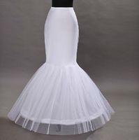 Wholesale tulle crinoline skirt - Wholesale mermaid wedding dress petticoat trumpet tulle quinceanera dress underskirts hoop skirt crinolines free shipping
