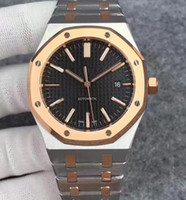 Wholesale Sapphire Royal - Luxury JF Factory Mens Automatic Miyota 9105 Clone Cal.3120 Watch Men Date Gold Steel Royal 15400 SR Sapphire Crystal Dive Sport Watches