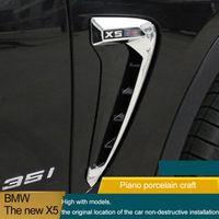 Wholesale Bmw Door Sills - For BMW X5 F15 F16 2014 2015 2016 Car Side Air Flow Fender Cover Trim Sticker Decoration Auto Accessories Car-Styling Man