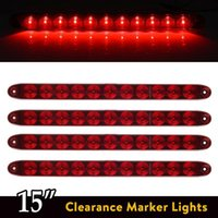 "Wholesale Truck 11 - Red 15"" 11 LED Light Bar Stop Turn Tail 3rd Brake Light Truck Trailer ID Bar Waterproof Free shipping"