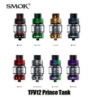 Wholesale Tubes Filling - Authentic Smok TFV12 Prince Cloud Beast Tank 8ml Big Capacity Top Filling Airflow Control Atomizers With Bulb Glass Tube
