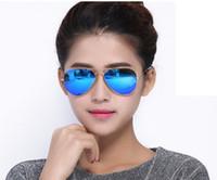 Wholesale Red Man Flash Drive - Soscar Sunglasses Pilot Style Gold Frame Flash Mirror Lenses 58mm Brand Design Sunglasses for Men Women Polarized Sunglasses UV400 Glasses