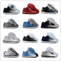 Wholesale Sport New Leather Shoes Men - 2017 New Arrival Retro XXXI Low California Michigan George 31s Basketball Shoes for Top Quality Retro 31 Training Sports Sneakers Size 7-12