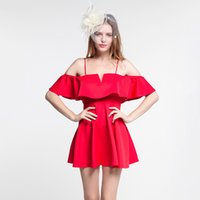 Wholesale Wholesale Dress Night Elegant - 2017 New Sexy Sleeveless Strapless Women Dress Elegant Wedding Party Ruched Dresses red pink rose Free Shipping
