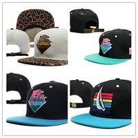 Wholesale Pink Dolphin Snapback Brims - Pink Dolphin Leopard brim Strapback hat men's and women's fashion adjustable baseball cap without MOQ hip hop bboy street snapback !