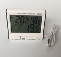 Wholesale Digital Hygrometer Outdoor - Wholesale- Practical DC103 Digital LCD Portable Indoor Outdoor Thermometer Hygrometer