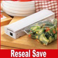 Wholesale Storage Bags Vacuum Machine - Food Vacuum Sealer Save Home Portable Reseal Keep Food Moistureproof Speed sealing machine for Food Plastic storage bags