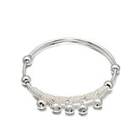 Wholesale Design Fashion Jewelery - Latest Design Vogue Jewelery Bangle Fashion Style Woman Charm Luck Beads Bangle Jewelry Silver Bangle For Women BC00331