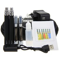 Wholesale Ego Ce5 Kit Dual - CE5 Plus Double Kits CE5S Dual Kits Electronic Cigarette 650mah 900mah 1100mah t Battery 2 ego t Batteries 2 ce5+ Atomizers Instock