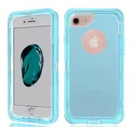 Wholesale Cover Iphone Full Glitter - For iPhone 7 cellphone case 3 in 1 Transparent Robot Armor Full Body Cover Rugged Cases for iPhone 6 6S 7 plus glitter phone case Samsung S8