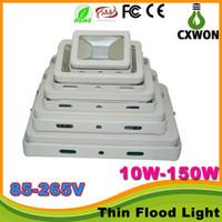 Wholesale Ip66 Floodlight Led Thin - AC85-265V 10W 30W 50W 70W 100W 150W Led Floodlight CE Rohs TUV Ultar Thin IP66 outdoor Led flood light