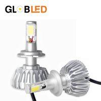 Wholesale Auto Led Light Replacements - 2PCS Car Headlights H1 LED Fog Light Bulb H4 H7 H8 H11 HB3 9005 HB4 9006 Auto Replacement Kit Bulbs 40W 3600lm Headlamp