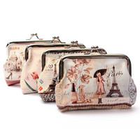 Wholesale Cute Key Pouch - Wholesale- Hot Women Cute Coin Purse Top Leather Character Small Wallet Girls Change Pocket Pouch Hasp Keys Bag Metal Bar Opening New