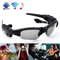 güneş gözlüğü kulaklıkları toptan satış-Güneş gözlüğü Bluetooth Kulaklık Kablosuz Spor Kulaklık Sunglass Stereo Handsfree Perakende Paketi ile Kulaklık MP3 Müzik Çalar