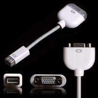 ingrosso adattatore mini apple vga-Mini DVI Porta a VGA Adattatore per Apple Mac Macbook Display Monitor Proiettore 50Pcs