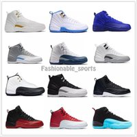 Wholesale Mens Blue Suede Boots - 2017 new Mens Basketball Shoes air Retro 12 TAXI Playoff BLAck Flu Game Cherry retro12 XII Men Sneakers boots EUR:41-47 Free Shipping