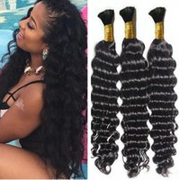 Wholesale Human Hair Bulk Braiding Wavy - top quality Brazilian Hair 100g Human Hair Braids Bulk Deep Wave No Weft Wet And Wavy Deep Curly Micro mini Braiding Bulk Hair