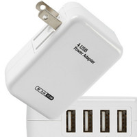 Wholesale Usb Ac Wall Black - Customizable Logo 4 Port 3.1A USB Wall Charger AC power adapter 15w 4port Home Wall Charger For iPhone ipad Samsung galaxy note 4 black w