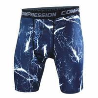 pantalon de compression camo achat en gros de-Gros-New Mens Camouflage Compression Collants Shorts Marque Vêtements sport Camo Pantalon Court Hommes Homme Fitness Bodybuilding Shorts S-XXXL