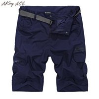 Wholesale Fast Cargo - Wholesale- 2017 AKing ACE Mens Summer Army Cargo shorts Waterproof fast dry short pants men elastic waisted casual shorts free belt ,ZA206