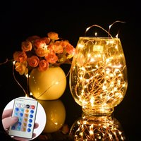 Wholesale Decorative Listing - LED String Lights 66 Feet 200 LEDs Dimmable Glimmer Decorative Lights Complete Waterproof, UL Listed, Copper Wire Lights with Remote Control