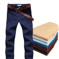 Wholesale Mens Pants Models - Wholesale-2016 Fall brand new mens long pants cotton casual trousers Slim models wild solid stretch tide brand XL color optional