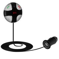 transmisores usados al por mayor-Al por mayor-2016 nuevo kit de manos libres de Bluetooth del coche del loro del kit del transmisor de FM en el coche usado como tarjeta de TF de la ayuda del cargador del coche