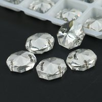 Wholesale Embellishments For Sewing - Crystal Octagon Shape Sew on Rhinestone Jewels for Embellishment, Accessories, Crafts, Sewing R3260 50pcs per bag