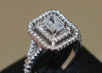 Wholesale Emerald Cut Diamond Yellow Gold - 2.60ct D VVS1 Emerald Cut Diamond Engagement Wedding Ring 14k White Real Gold.