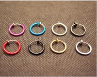 Wholesale Belly Clips - Color no hole round earrings clip false clip-on earrings ear bone clamp spring ear clip nose ring belly button ring
