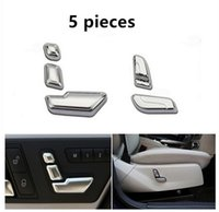 Wholesale Chrome Car Decoration Strip - Car interior Seat buttons decorative sequins Chrome ABS strip for Mercedes Benz C class W204 180 200 260 300 2008-13
