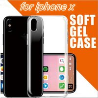 2018 Ultra-Thin Clear transparent TPU Phone Case Weiche Gel Crystal Back Cover für iphone X 8 6 6S 7 plus Samsung Galaxy S8 S7 Randnote 8
