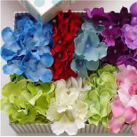 arreglos florales de seda para el hogar. al por mayor-Flor de hortensia artificial Flores de seda Hortensias individuales para arreglos de boda Decoración de fiesta en el hogar Flor de planta falsa