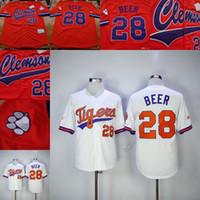 заказное пиво оптовых-пользовательские мужчины молодежь Клемсон Тигры Бейсбол Джерси 28 сет пиво DeShaun Уотсон домой любое имя # сшитые