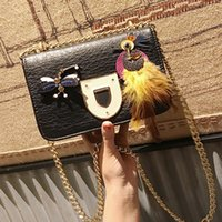 Wholesale Dragonfly Bags - chain bag fashion female messenger bags women shoulder bags Feather dragonfly crossbody bag luxury designer leather handbags sac