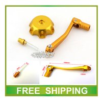 Wholesale Dirt Bike Gear Lever - Wholesale- Alloy fuel gas cap gear shift lever Fit zongshen loncin lifan YX atomik crf ttr 50cc-250cc pit dirt bike accessories