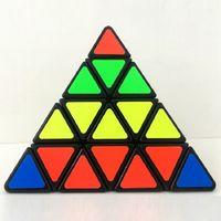 Wholesale Pyramid Stickers - New Shengshou 4x4x4 Triangle Pyramid Pyraminx Magic Cube Puzzle Speed Magic Cubes PVC&Matte Stickers Cubo Magico Educational Toy
