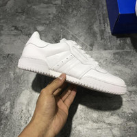 Wholesale Leather Bowl - 2017 Kanye West Calabasas Powerphase Calabasas CQ1693 Men Women Sneakers leather upper with lateral Calabasas Outdoor Shoes