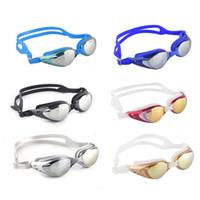 ayna sisi toptan satış-Unisex Yetişkin Kaplama Aynalı Spor Su Spor Karşıtı Sis Karşıtı UV su geçirmez Yüzme Gözlük Camları Yeni Geliş 2506006