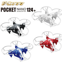 Wholesale Micro Metal Rc Helicopter - Fashion FQ777-124 Mini Quadcopter Micro Pocket Drone 4CH 6Axis Gyro Switchable Controller RC Helicopter Kids Toys