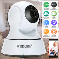 Wholesale Wanscam Wireless Ip Cameras - Wanscam HD 720P Wireless WiFi Pan Tilt Network IP Cloud Camera Infrared Night Motion Detection for CCTV Surveillance Security Cameras S1099