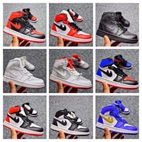 Wholesale Cheap Price Leather Shoes - Children shoes Retro 1 cheap store Top Quality kids Basketball shoes Wholesale price free shipping sales US10.5C-US3Y