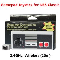Wireless NES Classic Edition Game Box Mini Controller 10M (33ft) Distance Retro Wireless Gamepad pour NES Classic Mini Gamepad Joystick