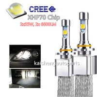 Wholesale led h4 cree - Cree XHP70 Car LED Headlight 110W 13200LM 6000k H4 H7 H8 H9 H11 9005 9006 9012 Auto headlamp Canbus EMC Kit Bulbs fog lighting lamps