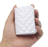 Wholesale Real Banks - DCAE White Mobile Power Bank Real 5600mAh USB External Battery Backup Portable Charger PowerBank for all mobile phone