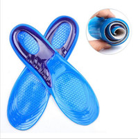 Wholesale Memory Foam Shoe Insole Inserts - Silicone Gel Insoles Man Women Insoles Orthopedic Massaging Shoe Inserts Shock Absorption Shoepad High Quality YYA121